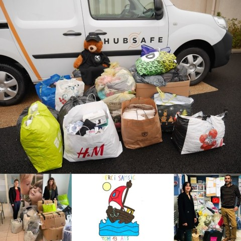 HUB SAFE collecte 138 kg de dons de vêtements & chaussures pour SOS Village d'Enfants