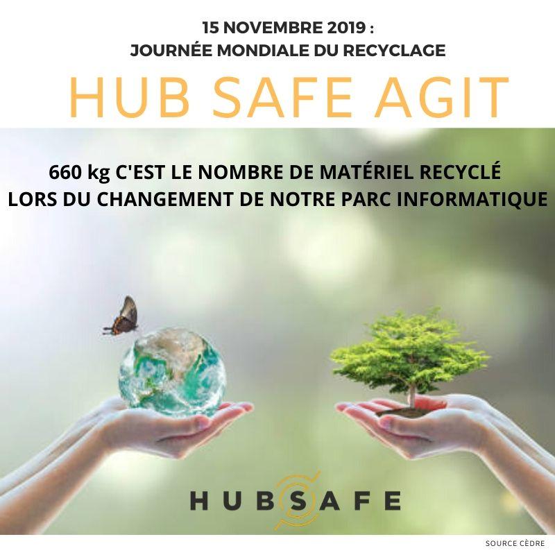 15 novembre 2019 journée mondiale du recyclage : HUB SAFE agit