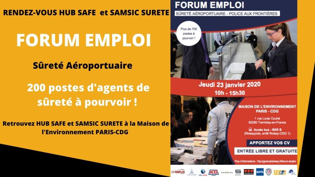 Forum de l'emploi Sûreté Aéroportuaire : HUB SAFE et SAMSIC SURETE participent